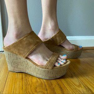 Marc Fisher Shelbee Cork Wedge Sandal